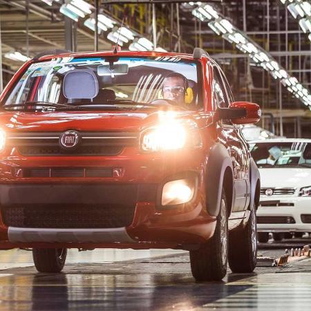 Fiat confirmou que vai suspender parte da produção na fábrica de Betim (MG) em razão da irregularidade no abastecimento de peças - Divulgação
