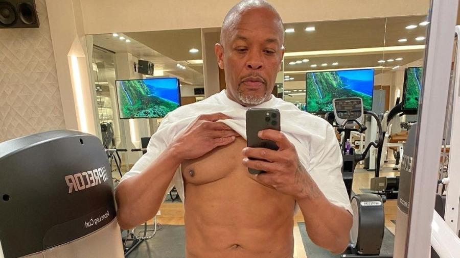 """Dr. Dre exibe seu """"corpo de pandemia"""" e diz que vai voltar a praticar exercícios físicos - Reprodução/Instagram"""