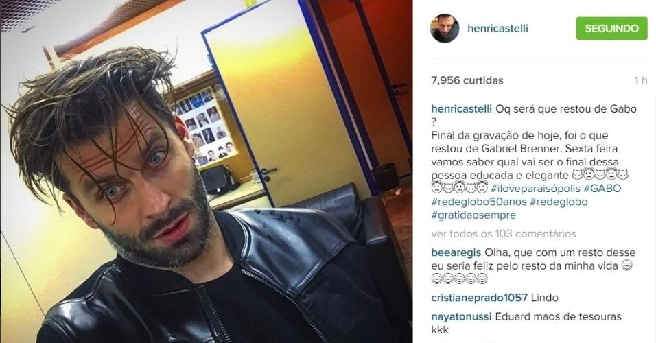3.nov.2015 - Henri Castelli deixou os fãs curiosos para saber o destino do seu personagem na reta final de