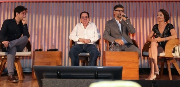 """Edmara (direita) no lançamento de """"Velho Chico"""" - Roberto Filho/Brazil News"""