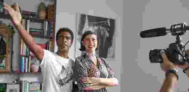 """Hélio de La Peña e Maria Paula nos bastidores de """"Procurando Casseta & Planeta"""" - Gianne Carvalho/Divulgação - Gianne Carvalho/Divulgação"""