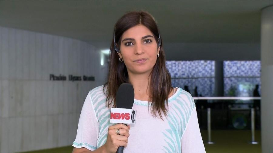 Repórter Andréia Sadi, da GloboNews - Reprodução