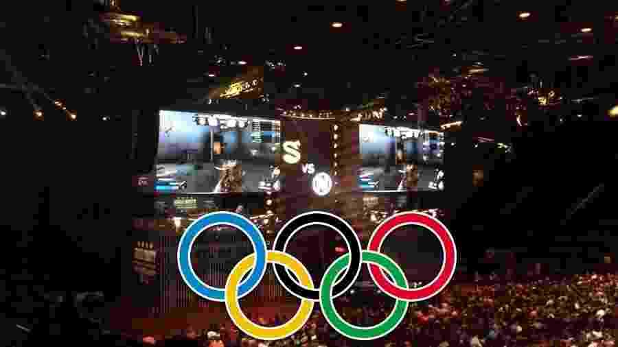 99d94b9b88 Comitê organizador olímpico de Paris discute a inclusão de games na  programação das Olimpíadas de 2024 Imagem  Montagem UOL