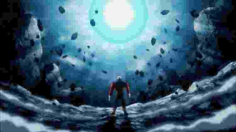 Jiren pouco precisou se mexer para barrar a Genki Dama; técnica mais forte de Goku não surtiu nenhum efeito - Reprodução