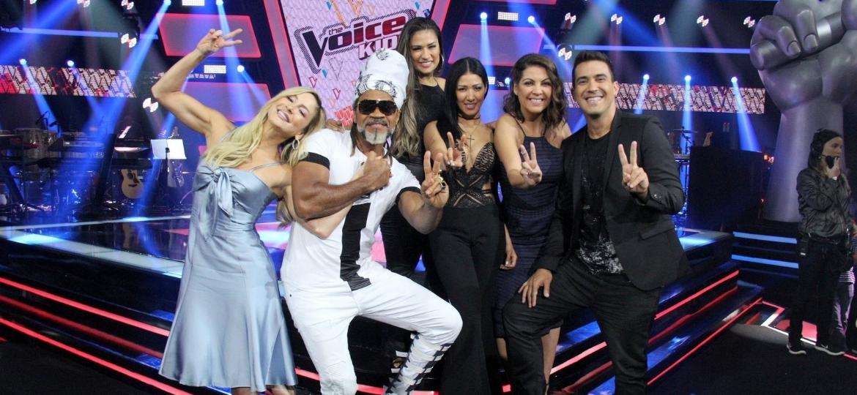 """Jurados da terceira temporada do reality musical """"The Voice Kids"""" - AGNews"""