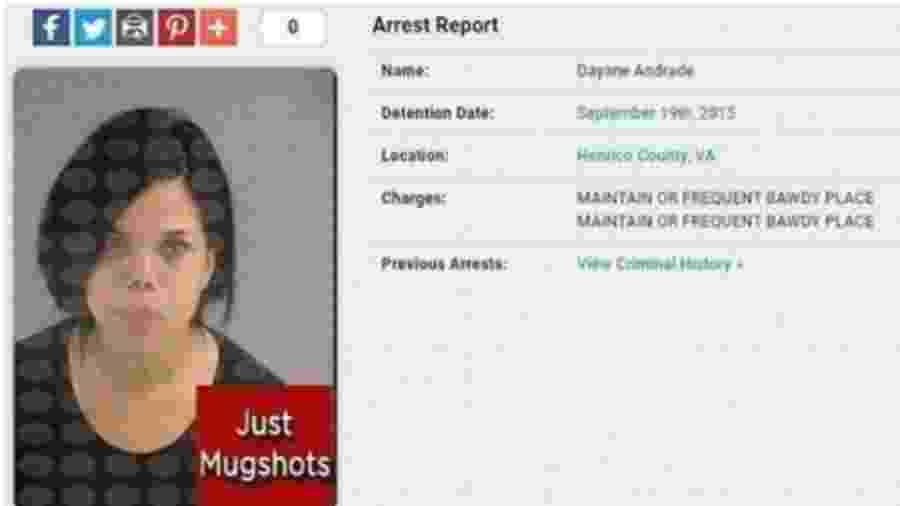 Dayane foi presa sob acusação de manter uma casa de prostituição no estado da Virginia, nos Estados Unidos - Reprodução/Instagram