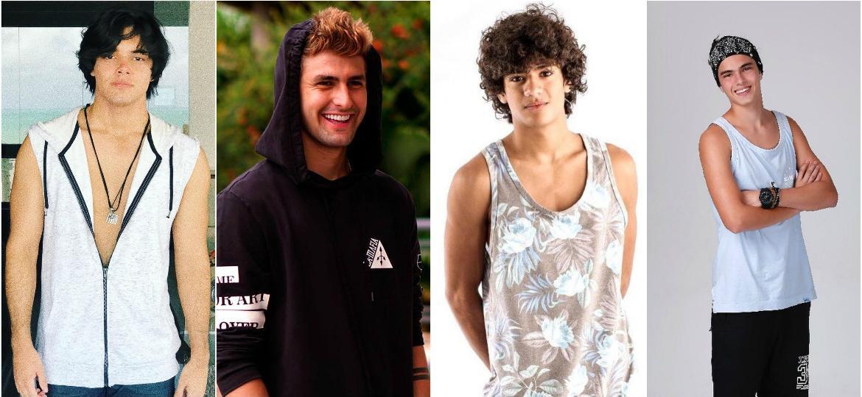 Apollo Costa (Enzo), Pedro Rezende (Luca), Gabriel Santana (Paulo) e Matheus Lustosa (Rafael) - Instagram/Reprodução