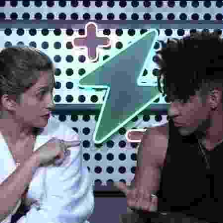 """""""Fala baixo e me respeita"""": mulher de D'Black briga com cantor no """"Power Couple"""" - Reprodução/TV Record - Reprodução/TV Record"""