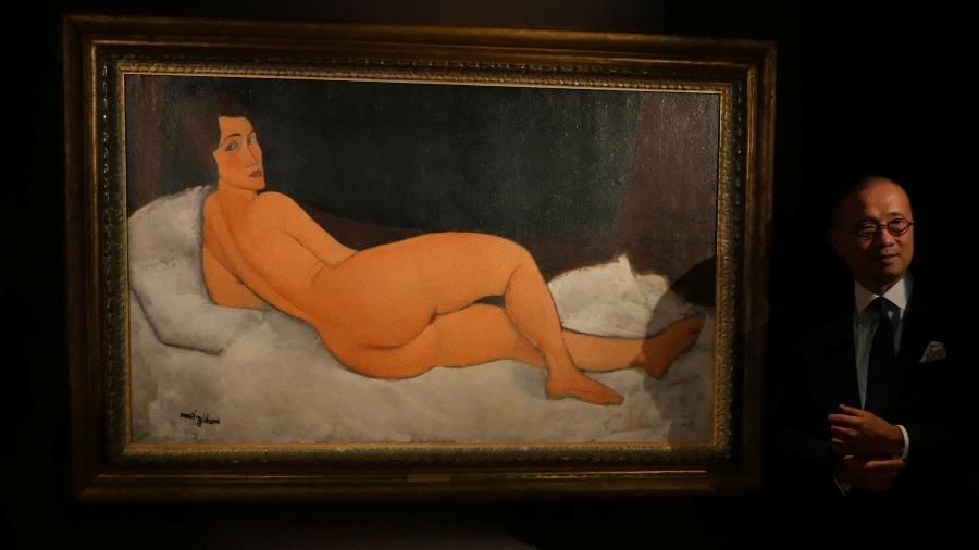 """Obra de """"Nu Couche"""" Amedeo Modigliani - REUTERS/Venus Wu"""