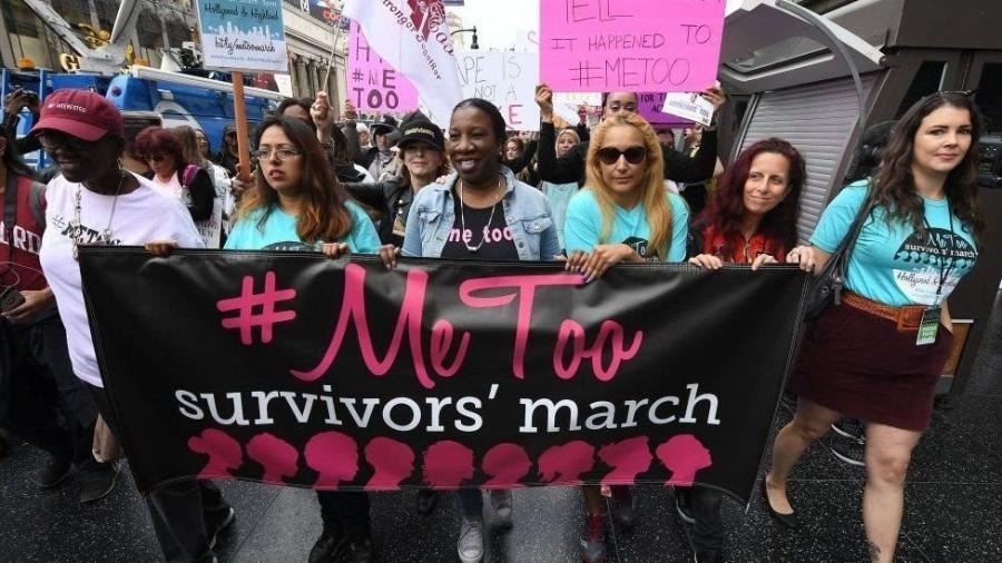 Protesto de mulheres em favor da campanha do #MeToo nos Estados Unidos - Getty Images