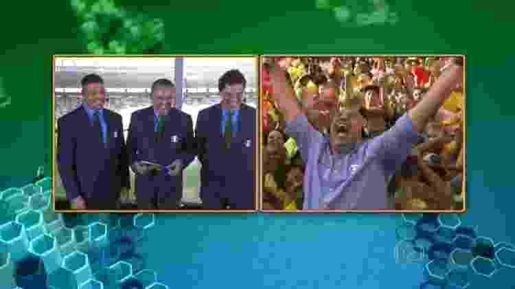 Márcio Canuto fez a alegria de Ronaldo, Galvão Bueno e Casagrande na Copa do Mundo de 2014 - Reprodução/TV Globo