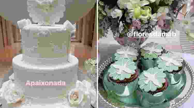 Detalhes da decoração para a comemoração do batismo de Manuela, filha de Eliana - Reprodução/Instagram - Reprodução/Instagram