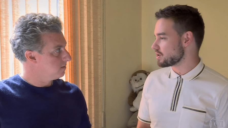 Luciano Huck entrevista Liam Payne, do One Direction - Reprodução/TV Globo