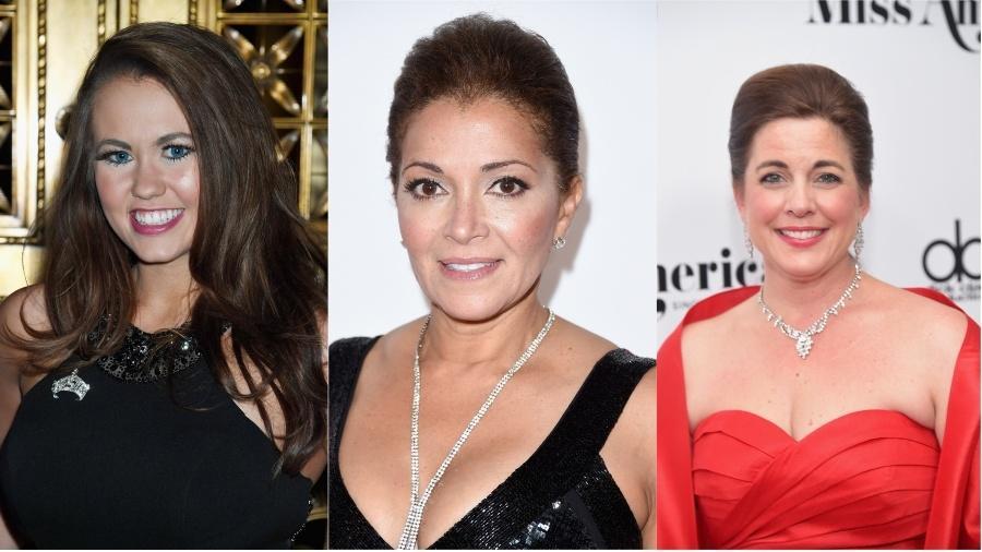 Cara Mund, Suzette Charles e Heather Whitestone, vencedoras do Miss America - Getty Images