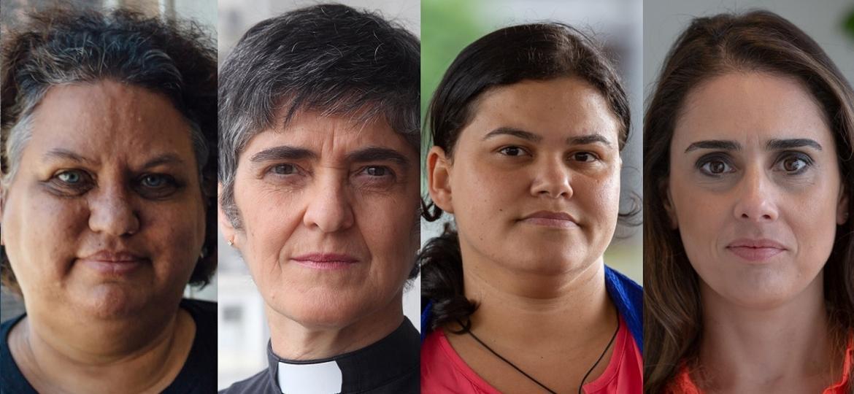 Essas quatro mulheres sofrem ataques e perseguições por defenderem a descriminalização do aborto - Agência Pública/Montagem UOL