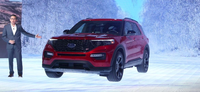 Ford Explorer ST foi um dos destaques da marca norte-americana no Salão de Detroit - Jonathan Ernst/Reuters