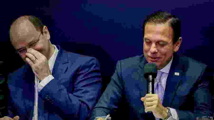 O governador do Estado de São Paulo, João Doria, e o secretário de Educação, Rossieli Soares  - Estadão Conteúdo