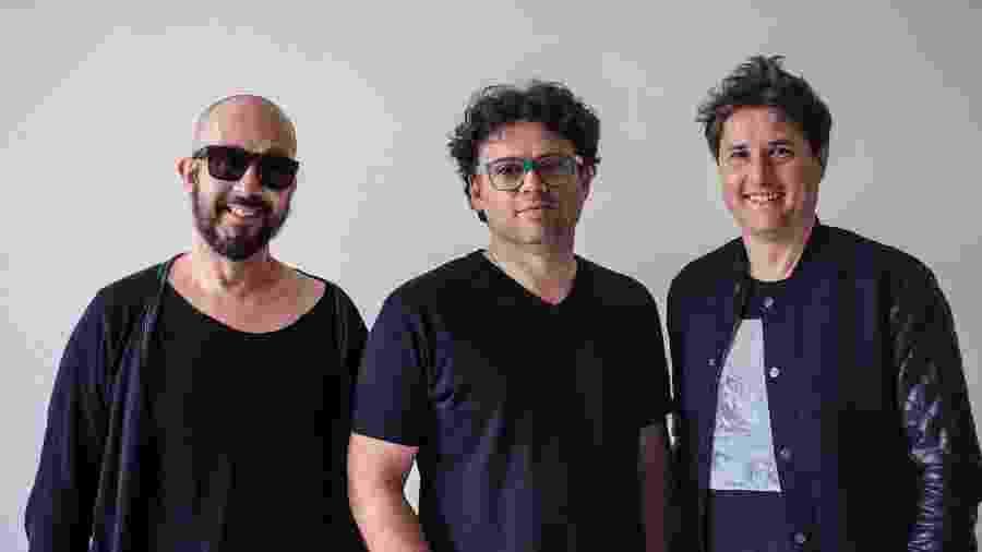 Anderson Noise, Henrique Portugal e Lelo Zanetti formam a banda Nie Myer - Divulgação