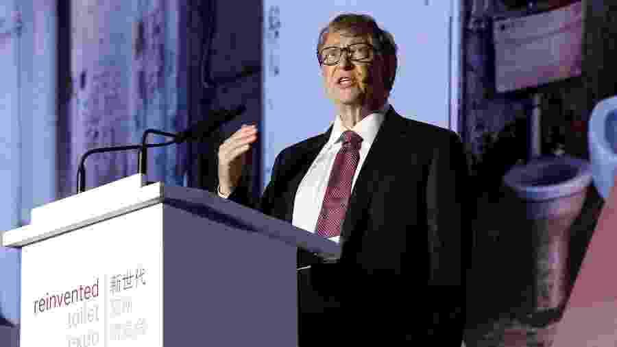 "Bill Gates fala na ""Reivented Toilet Expo"" em Pequim, na China - Thomas Peter/Reuters"