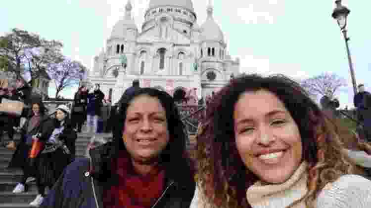 Ludiana Braz percorreu até 15 quilômetros a pé por dia com a mãe durante os passeios por Paris - Arquivo pessoal/ RFI