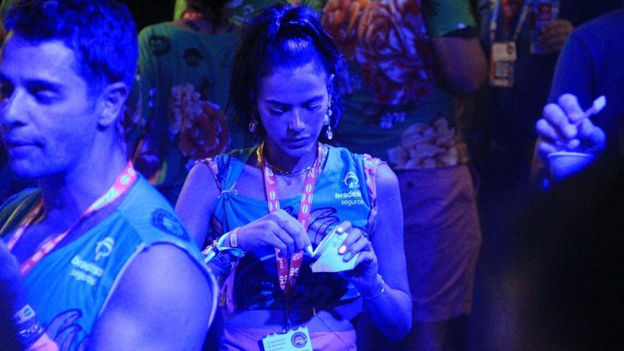 Bruna Marquezine é vista tomando sorvete em camarote em Salvador - JC Pereira/AgNews