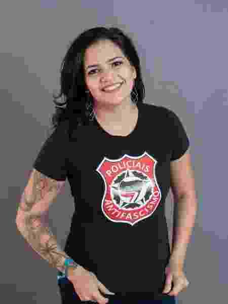 Patrícia Oliveira do movimento Policiais Antifascismo - Arquivo pessoal