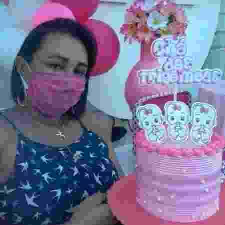 A dona de casa Michelle Freitas que descobriu a quarta filha na hora do parto - Arquivo pessoal