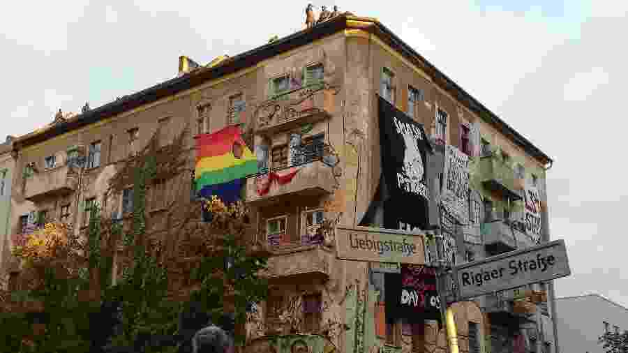 Prédio que sediava ocupação feminista em Berlim  - Niklas Franzen
