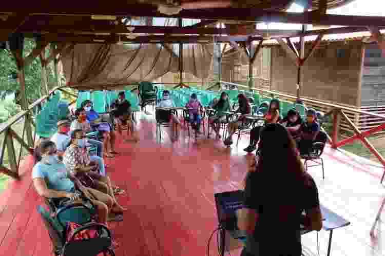 Mulheres durante curso de empoderamento feminino em outubro - Divulgação - Divulgação