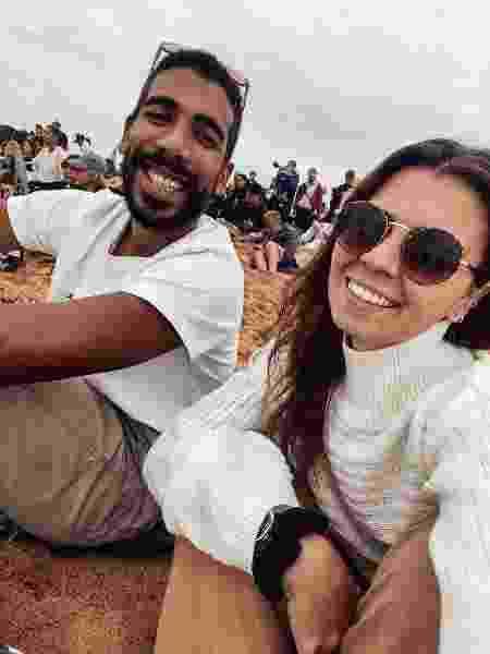 Juliana Sanches Pereira e o marido - Arquivo pessoal - Arquivo pessoal