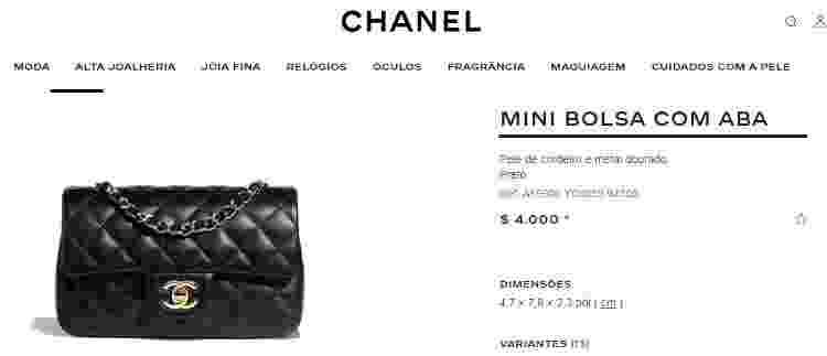 Bolsa Chanel - Reprodução/Chanel - Reprodução/Chanel