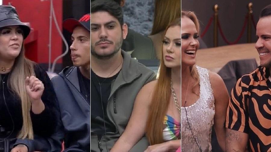 Power Couple: Mari e Matheus, Mirela e Yugnir e Nina e Filipe estão na DR - Reprodução/RecordTV