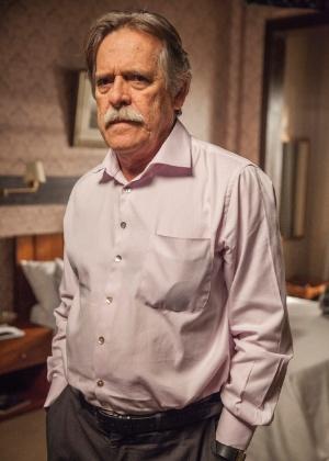 """José de Abreu como o Gibson de """"A Regra do Jogo"""" - Pedro Curi/TV Globo"""