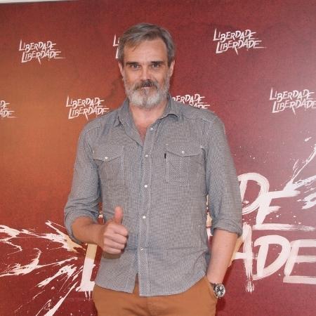 """O ator Dalton Vigh durante o lançamento de """"Liberdade, Liberdade"""", em 2016 - Thyago Andrade e Graça Paes/ Brazil News"""
