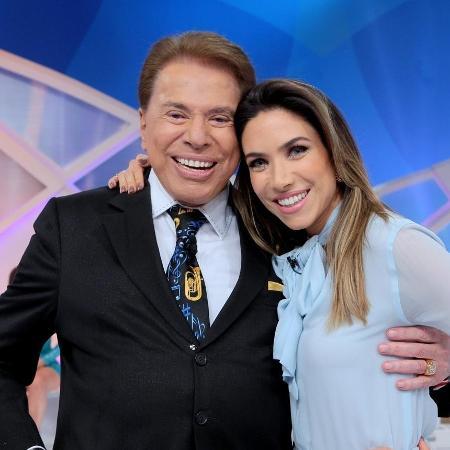 """Silvio Santos com a filha Patrícia Abravanel, que irá apresentar o """"Show do Milhão"""" - Lourival Ribeiro/SBT"""