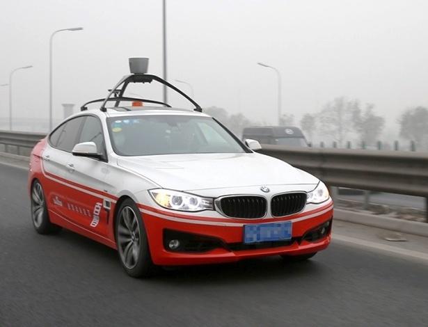Empresa tem parceria com a BMW e desenvolve este Série 3 GT autônomo na China - Divulgação