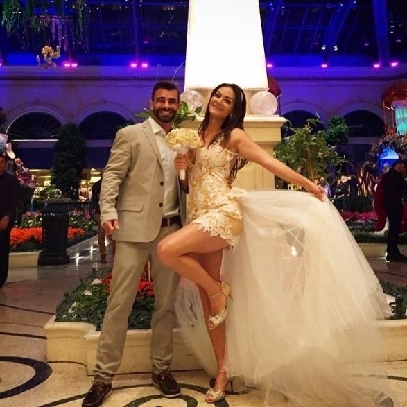 Jorge Sousa e Laura Keller se casam em Las Vegas, Estados Unidos