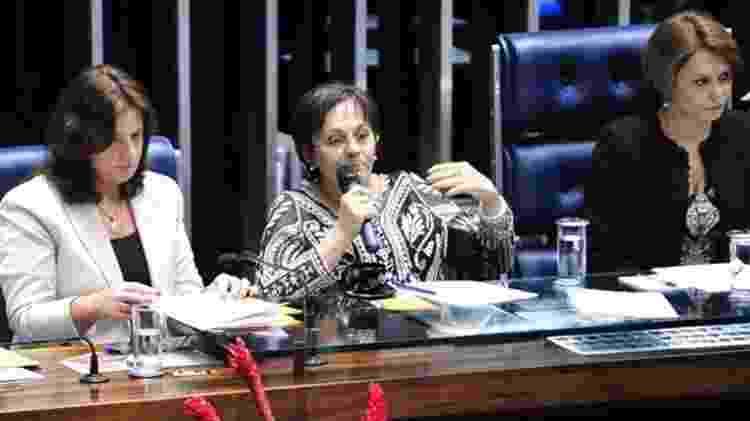 Maria da Penha participa de evento no Congresso por ocasião dos dez anos da lei que leva seu nome - Agência Câmara/Reprodução - Agência Câmara/Reprodução