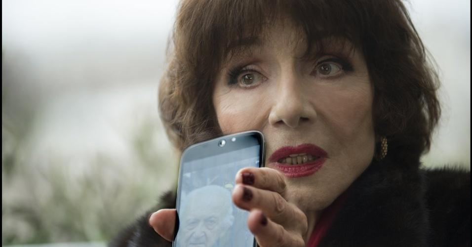 "Judith Magre em cena do filme ""Elle"" (2016), de Paul Verhoeven"