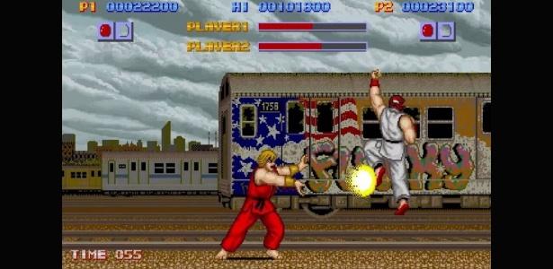 Ryu e Ken trocaram seus primeiros sopapos no game de 1987, que teve sucesso comercial, mas apresentava diversas falhas - Reprodução