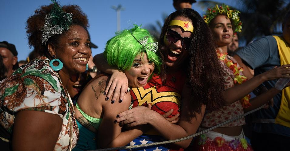 Não faltaram disposição, animação e alegria no Aterro do Flamengo, zona sul do Rio de Janeiro