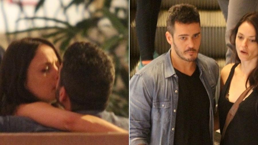 Marcos Veras e Rosanne Mulholland se beijam em restaurante no Rio de Janeiro - Montagem/AgNews