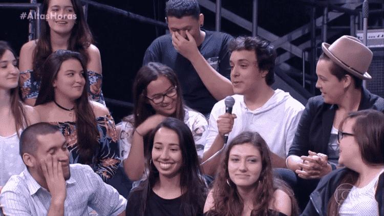 """Jovem faz pergunta à sexóloga do """"Altas Horas"""" - Reprodução/TV Globo - Reprodução/TV Globo"""