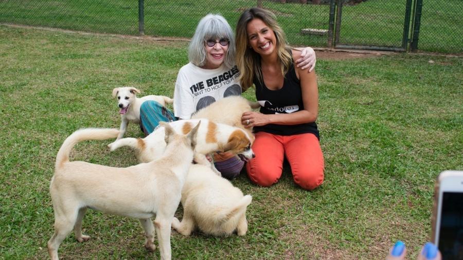 Rita Lee visita o Instituto Luisa Mell - Guilherme Samora/Divulgação