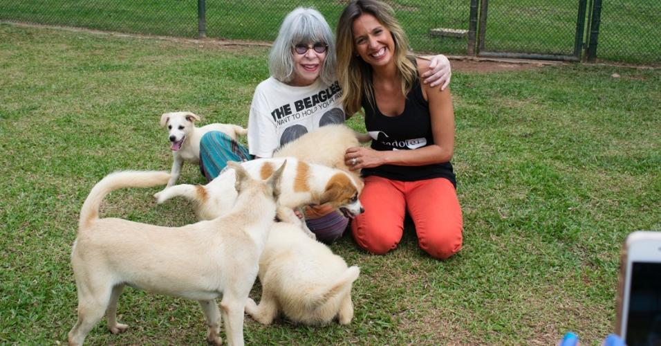Rita Lee visita o Instituto Luisa Mell