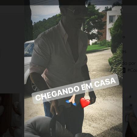 Rodrigão mostra chegada da filha, Linda, em casa - Reprodução/Instagram