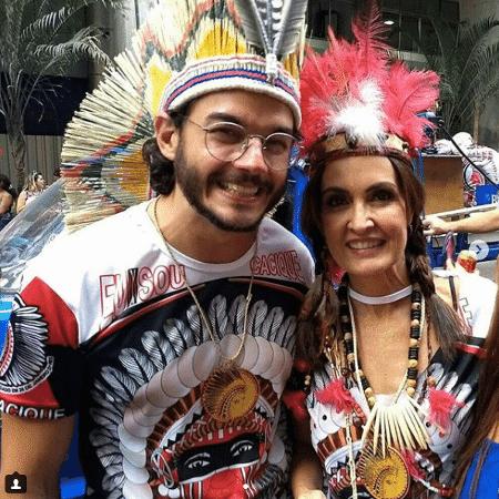 Fátima Bernardes e Túlio pulam bloco de Carnaval no Rio - Reprodução/Instagram