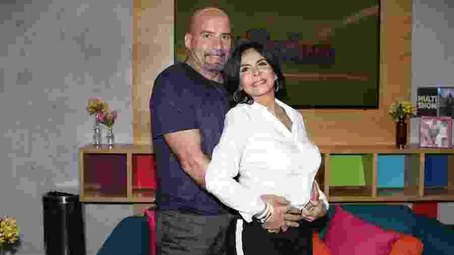 Gretchen ao lado do marido, Carlos Marques - Thiago Duran/AgNews