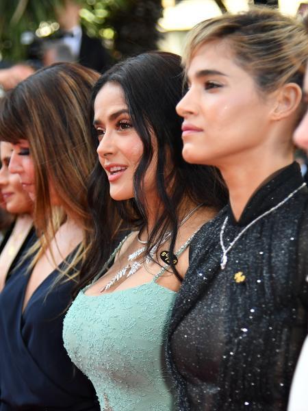 Salma Hayek em protesto de atrizes, diretoras e produtoras em Cannes - Alberto Pizzoli/AFP