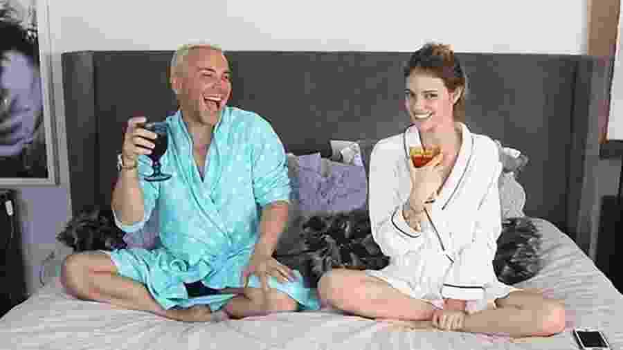 Matheus Mazzafera e Laura Neiva - Reprodução